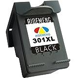 AideMeng Remanufactured pour HP 301 XL Cartouches d'encre (1 Noir) Compatible avec HP Deskjet 1000 1010 1510 1512 2000 2050 2054a 2510 2514 2540 2542 3000 3050 3054a,HP Envy 4500 4502 4504 5539, HP Officejet 2620 2622 2624 4634 4636 (1 Noir)