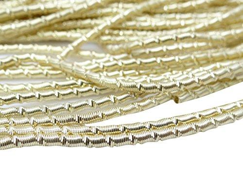 Dekorative Goldton Bullions Metallfäden Drahtbarren Grobe Linke Maschen Von Den 3 Yards -