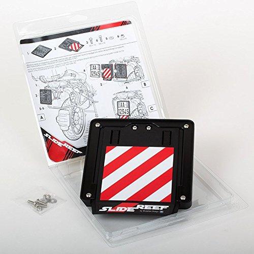 SlideReef(TM) Universal-Kennzeichenhalter für Motorrad, mit herausziehbarem Signal-Teil hoher Sichtbarkeit für Ihre Sicherheit