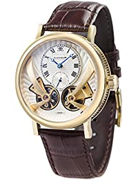 Thomas Earnshaw Beaufort Anatolia 8059Mechanical Men's Watch with Automatic Transmission, Silver Face with Classic Analogue Display and Brown Leather Strap