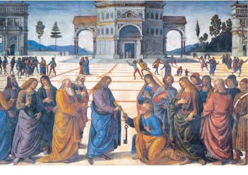 Clementoni 39180.6 - Puzzle 1000 teilig Perugino - Christus übergibt Petrus die Schlüssel