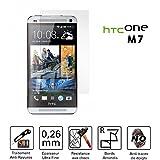 TM-Concept Film / Vitre de protection écran – HTC One M7 - Verre Trempé HQ Crystal Ultra résistant (incassable, inrayable 9H) et Ultra Slim (0,26mm) avec bords arrondis - pour une protection et un confort d'utilisation max !
