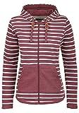 Blend She Clara Damen Sweatjacke Kapuzenjacke Hoodie mit Kapuze und Fleece-Innenseite, Größe:S, Farbe:Zinfandel (73006)