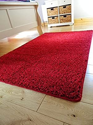 **10 colors & 4 sizes** WASHABLE, NON SLIP, NON SHED, THICK SOFT SHAGGY PILE BEDROOM LIVING ROOM BATHROOM MAT RUG CARPET - inexpensive UK light store.