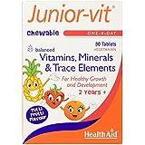 HealthAid Junior-Vit Chewable Multivitamins, 30 Vegetarian Tablets