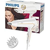 Philips ThermoProtect Ionic Haartrockner HP8232/00, 2200 Watt, inklusive Stylingdüse, Volumendiffusor, weiß