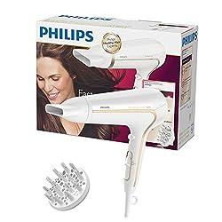 Philips Thermoprotect Ionic Haartrockner Hp823200, 2200 Watt, Inklusive Stylingdüse, Volumendiffusor, Weiß