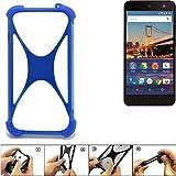 K-S-Trade Handyhülle für General Mobile 4G Silikon Schutz Hülle Cover Case Bumper Silikoncase TPU Softcase Schutzhülle Smartphone Stoßschutz, blau (1x)