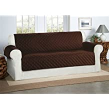 Cubre Chocolate / Marrón para Sofás de 3 Plazas - Protector para Sofás Muebles Acolchado de Lujo