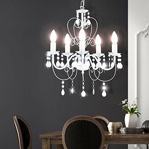 Kronleuchter Deckenlampe Lüster Hängelampe Beleuchtung Metall - 2