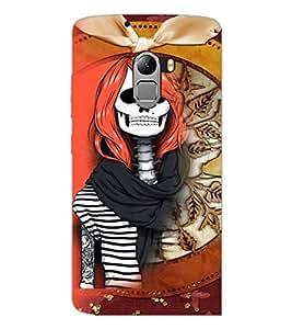 PrintDhaba Funny Skeleton D-4105 Back Case Cover for LENOVO VIBE X3 LITE (Multi-Coloured)