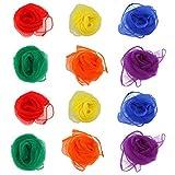 NUOLUX Multi-Color Foulards Ourlé Jonglage Foulards Danse 12pcs (couleur assortie)