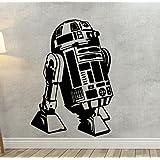 Pared Adhesivo Star Wars R2-D2, vinilo, negro, medium
