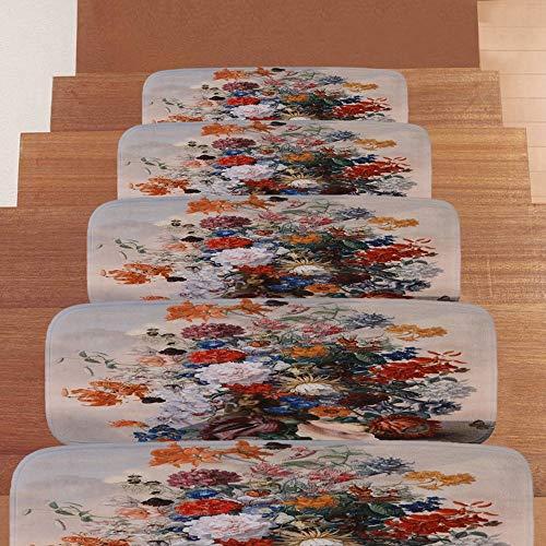 DZWLYX Treppenmatten Gummi Textilfaser - Stufenmatten,Stufenmatten Kleinformat Für Raumspartreppen/Wendeltreppen(22 X 70 cm) (Size : 3 Pieces)