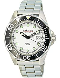 Nautec No Limit Herren-Armbanduhr XL Deep Sea Bravo Analog Quarz Edelstahl DSB-QZ-STSTBKWH