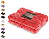 DecoKing 59128 Kuscheldecke 170x210 cm rot Decke Microfaser Mikrofaserdecke Fleecedecke Wohndecke Tagesdecke Fleece weich sanft kuschelig skandinavischer Stil red Henry
