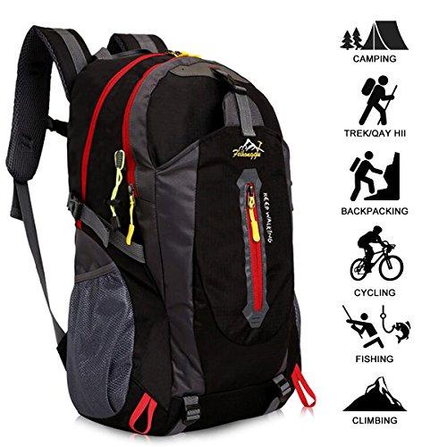 Imagen de 40l  de senderismo ligero, yunplus múltiples funciones impermeable casual  camping para deporte al aire libre escalada trekking alpinista 52 x 33 x 16 cm