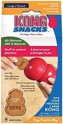KONG Snacks Bacon et Fromage Friandises pour Chien Taille L