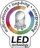 Eckiges Pflanzgefäß Lumenio mit LED, 57 cm - 4