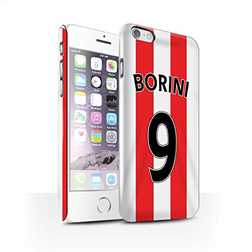 Offiziell Sunderland AFC Hülle / Glanz Snap-On Case für Apple iPhone 6S / Kirchhoff Muster / SAFC Trikot Home 15/16 Kollektion Borini