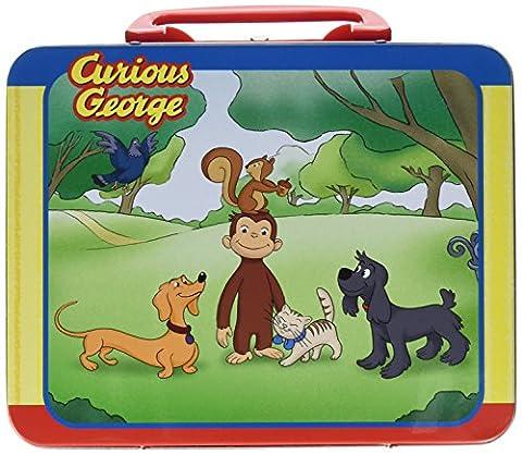 Pressman Toys Curious George Puzzle in Lunchbox Tin (24 Piece) by Pressman Toy