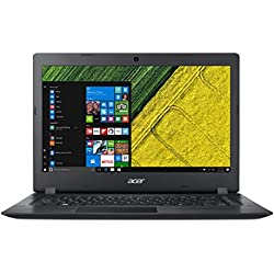 "Acer Aspire 1 A114-31-C02W Notebook con Processore Intel Celeron N3350, RAM da 4 GB DDR3, eMMC 32GB, Display 14"" HD LED LCD, Scheda grafica Intel HD 500, Office 365, Windows 10 Home in S mode, Nero"