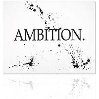 declea quadro moderno ambition quadro motivazionale quadro ambizione citazione scritta design bianco e nero canvas
