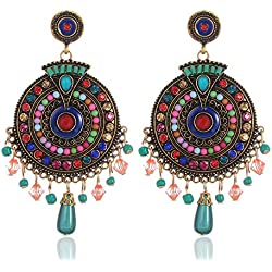 Shining Diva Gold Plated Drops and Dangler Earrings for Women (Multi-color) (8732er)