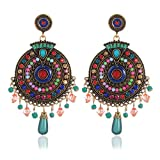 #10: Shining Diva Gold Plated Drops and Dangler Earrings for Women (Multi-color) (8732er)