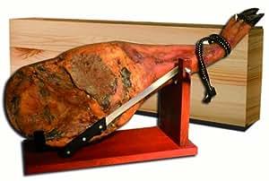 Pata Negra Vorderschinken ca. 4,5 kg + Halterung + Messer + Geschenkkartonage