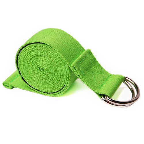 voidbiov D-Ring Buckle Yoga Strap (190cm/250cm), Durable Cotton Belt Perfect for Holding Poses, Improving Flexibility and Physical Therapy