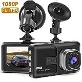 Dash Camera, ABlissing Dash Cam per auto con Full HD 1080P 170° super grandangolare, display TFT da 3', G-Sensor, visione notturna, WDR, registrazione in loop, ecc.