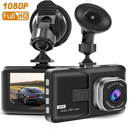 Dash Camera, Full HD 1080P Car Dash Cams DVR Dashboard Camera Built In G-Sensor Loop Recorder Night Vision and etc, SD Card is NOT Included