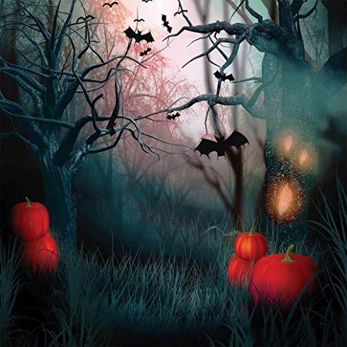 GzHQ JLT10314 Halloween-Hintergrund, 25,4 x 3 m, Totenkopf-Chalet