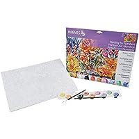 Reeves - Pintar por Números - Set de pintura grande, diseño de flores