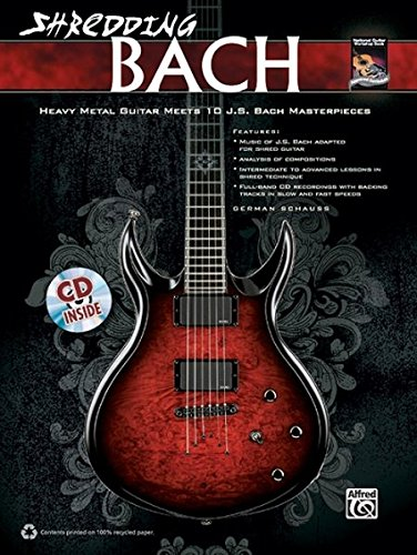 German Schauss: Shredding Bach Guitare+CD (National Guitar Workshop)