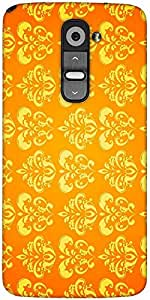 Snoogg Motif Yellow Shaded 2417 Designer Protective Back Case Cover For LG G2