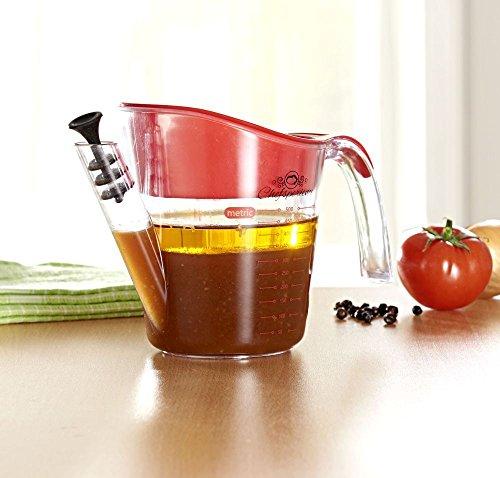 Fettabscheider 500 ml mit Sieb - Fett-Trenn-Kanne Fetttrenner Fettabschöpfer Sauciere