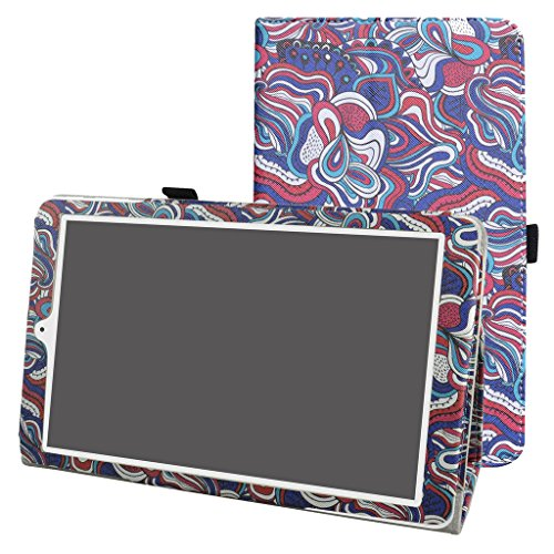 """Preisvergleich Produktbild Alcatel Pixi 3 10 hülle, Mama Mouth Folding Ständer Hülle Case mit Standfunktion für 10.1"""" Alcatel One Touch Pixi3 10 8079 Android TabletMushroom Fantasy"""