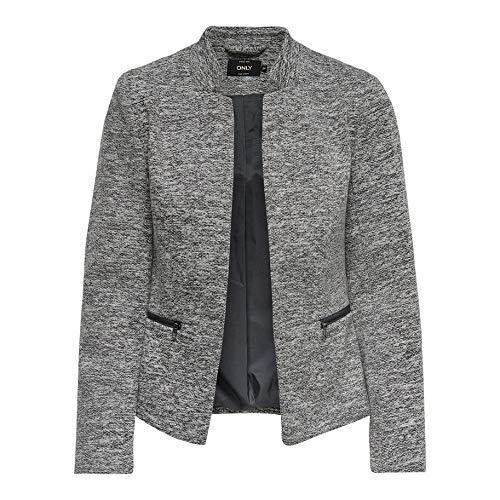ONLY NOS Damen Anzugjacke onlSTORY Maddy Mel Zip Blazer NOOS TLR, Grau (Medium Grey Melange), 42