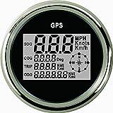 Digitale GPS Tachometer Speedo Gauge für Auto Motorrad Truck Yacht Schiff 3–3/20,3cm (85mm) 9–32V
