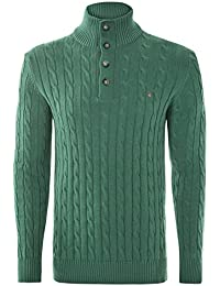 Gant Cotton Cable Mock Neck - Pull Manches Longues Homme