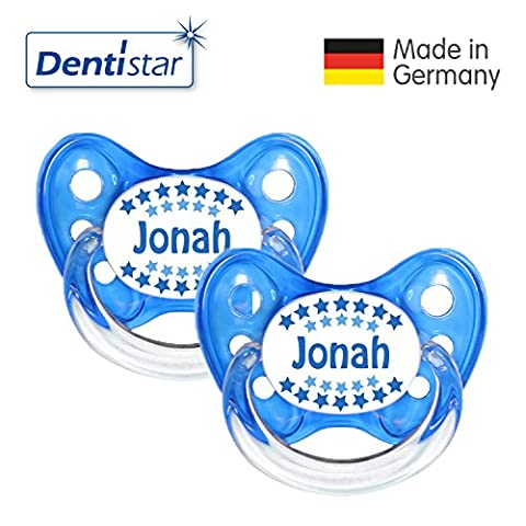 Dentistar® Schnuller 3er Set - Nuckel Silikon in Größe 1 von Geburt an, 0-6 Monate - zahnfreundlich & kiefergerecht - Beruhigungssauger für Babys -