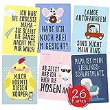 Lustige Baby Fotokarten von Cozy Racoon - Set aus 26 Meilenstein-Karten (für Junge und Mädchen) - Tolles Geschenk zur Geburt, Babyparty, Schwangerschaft