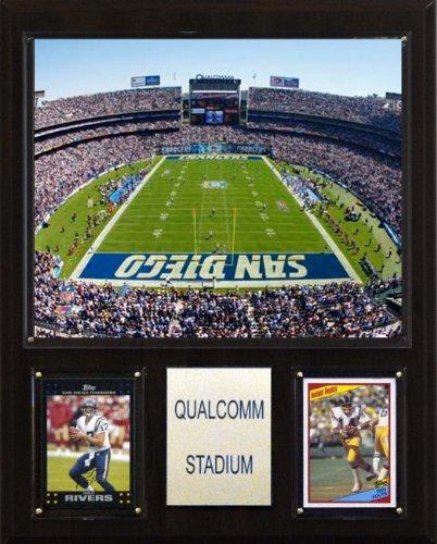 C & I Collectables NFL Qualcomm Stadion Plaque (San Diego Chargers, Qualcomm Stadium)