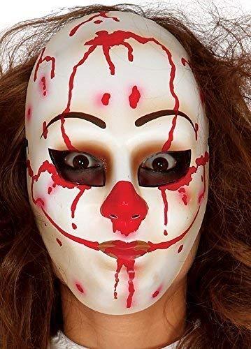 n Weiß Bloody Dead Killer Clown Halloween Horror Maske Kostüm Kleid Kostüm Outfit Accessoire ()