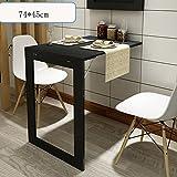 Tische Zr-Wandtisch Multifunktions-Klapptisch Wandtisch Klapptisch 75 * 45CM Schwarz/Weiß -Platz Sparen (Farbe : Schwarz)