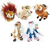 Set Completo 5 Peluche The Lion Guard Re Leone 17cm Originale Disney Kiara Simba Pumbaa Rafiki Timon