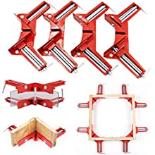 DreamColor 4 PCS Zinc Alloy 90 Degree Right Angle Corner Clamp Picture Photo Frame Corner