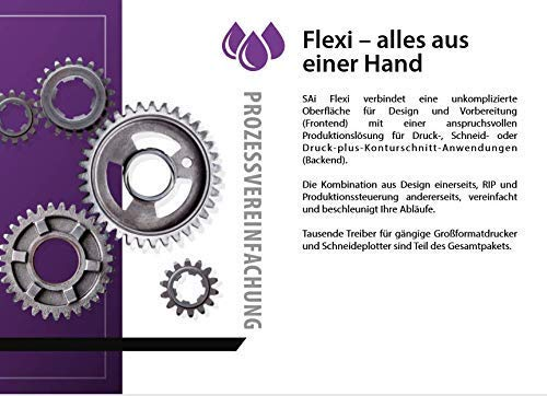 Flexi Software, 6 Monate Abonnement, Entwerfen Werbetechnik Digital Drucken Schneiden [Registration Code und Software Download]
